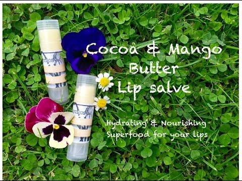 DIY Cocoa & Mango Butter lip salve balm