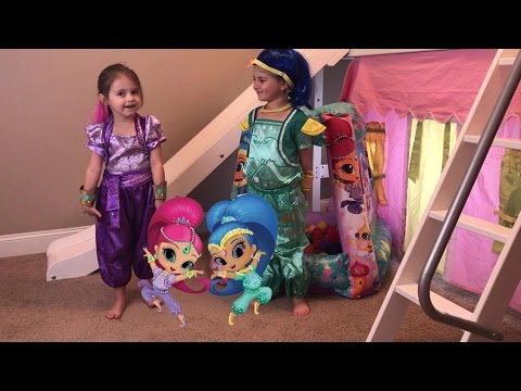 Shimmer and Shine Disney Princess Bed Castle Magic Power Wheels