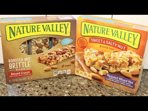Nature Valley: Almond Crunch Brittle Bar & Roasted Mixed Nut Granola Bar Review