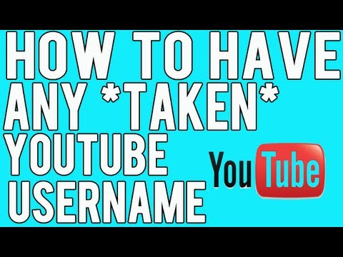 How To Have ANY Taken Youtube Username ! ( Trolling Trick )