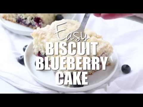 How to make: Easy Biscuit Blueberry Cake