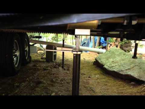 How RV Camper Slide out Stabilizer Jack Supports Work