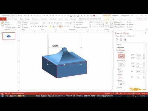 HỌC SLIDE POWERPOINT - P2 KỸ THUẬT VẼ HÌNH - 2.21-2 Chi tiết 3D Format