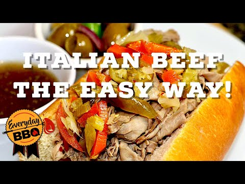 Italian Beef Sandwiches - The EASY Way - Everyday BBQ