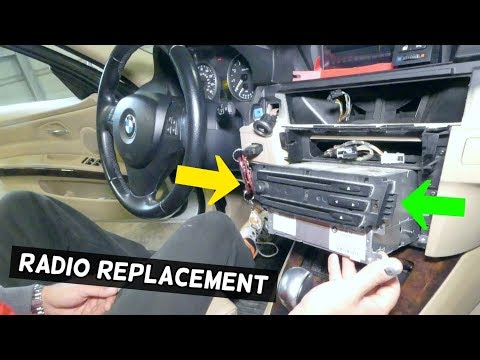 HOW TO REMOVE AND REPLACE RADIO CD PLAYER ON BMW E90 E92 E91 E93