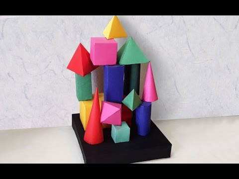 DIY Project Ideas : How to Make an Easy Room Decor Craft | Geometrical Shaped DIY Decor Stand