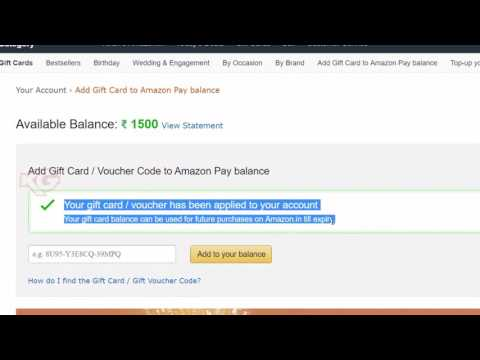 How to redeem Amazon Gift Card