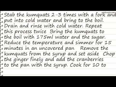 Recipe Cranberry and Kumquat Compote