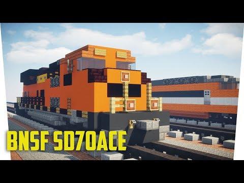 Minecraft BNSF SD70ACe Freight Locomotive Tutorial