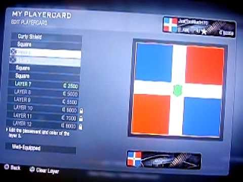 How to make Dominican Flag Emblem for COD: Black Ops