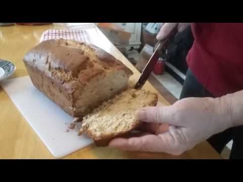 Banana Bread Baked in the Wood Stove