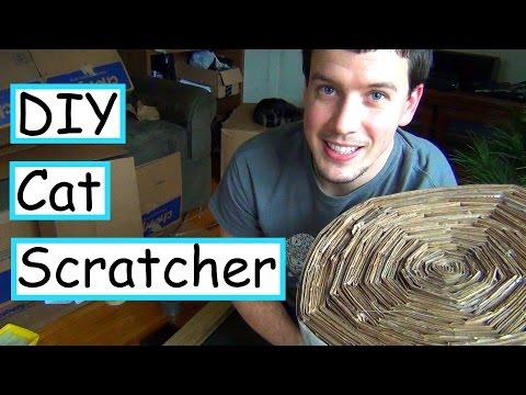 DIY Mammoth Cardboard Cat Scratcher | EASY + CHEAP