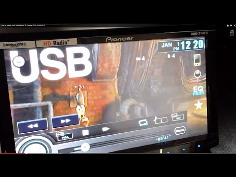 How to watch video with usb on all Pioneer AVH - X5600BHS