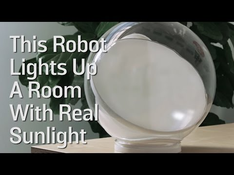 This Robot Lights Up A Room With Real Sunlight