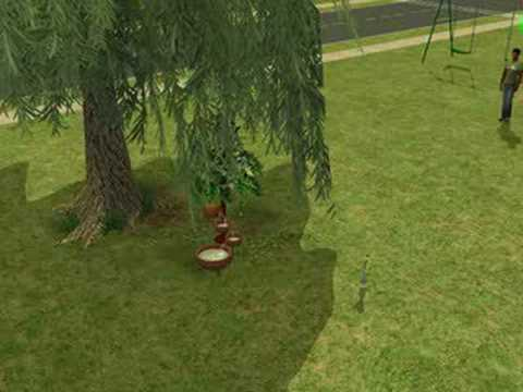 Sims 2 Glitch: really scary swingset