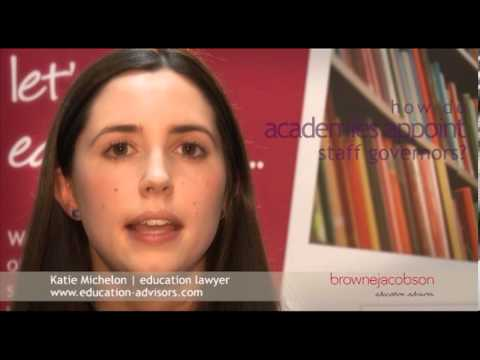 How do academies appoint staff governors?