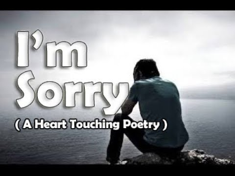 I'm Sorry ! | Heart Touching Poetry ( Tell Someone you Love about how sorry you are ) | Tarun Kumar