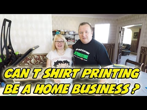 Can Making The Odd T Shirt  Become A Home Business ?