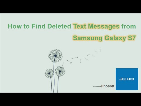 How to Find Deleted Text Messages from Samsung Galaxy S7 S7 Edge