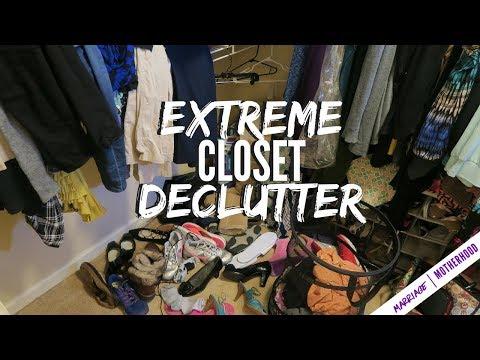Decluttering my closet 2018 | Master Bedroom | Closet Tour