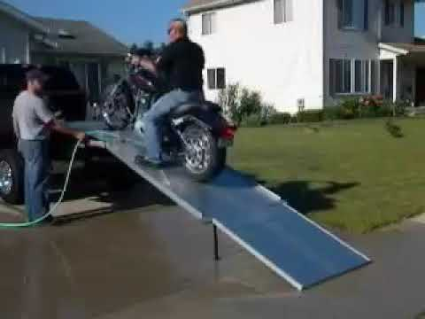 Loading motorcycle fail