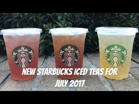 New Starbucks Teavana Shaken Iced Teas for July 2017
