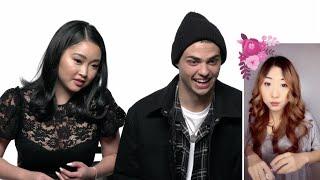 Lana Condor & Noah Centineo Watch Fan TikToks   Scene Stealers   Netflix