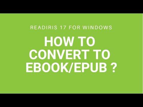 Readiris 17: Ebook/epub
