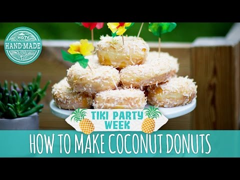 How to Make Coconut Donuts - Tiki Party Week Bonus Video - HGTV Handmade