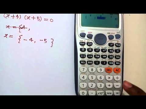 Quadratic Equation Solution on Scientific Calculator in Hindi