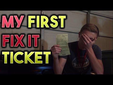 I Got My First Fix It Ticket...
