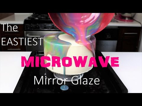 The EASIEST Microwave Mirror Glaze Recipe   CHELSWEETS