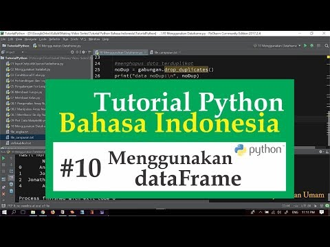 10 Tutorial Python Bahasa Indonesia - Menggunakan DataFrame Pandas