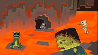 A Shiny Minecraft Tale (Minecraft parody cartoon)