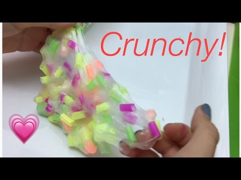 How To Make Super Crunchy Straw Slime