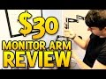 Monitor Arm Review - 3 Way Adjustable Tilting Desk Mount Bracket for Lcd