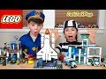 Lego City Police In Pretend Play Space Shuttle Heist Costume Cops And Robbers Intro Skit