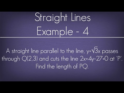 Straight Lines Example - 4 l Maths Geometry