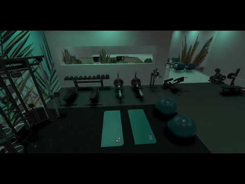 Modern gym design - fitness studio created with Ecdesign