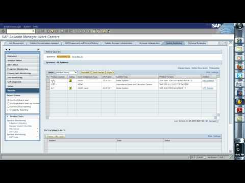 Creating an Early Watch Alert on Solution Manager 7.1