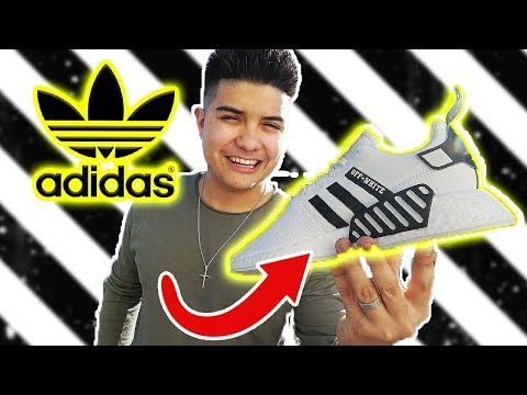 THE ADIDAS NMD OFF WHITE CUSTOM SNEAKERS!!