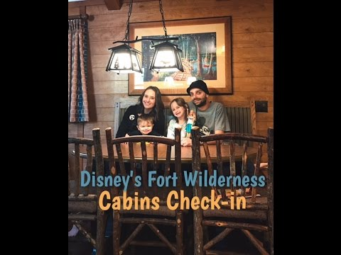 Disney's Fort Wilderness Cabin Check-in and tour