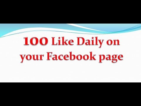 100 like daily on your Facebook page