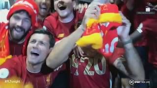 Liverpool squad crash Virgil van Dijk interview after being crowned Premier League champions!