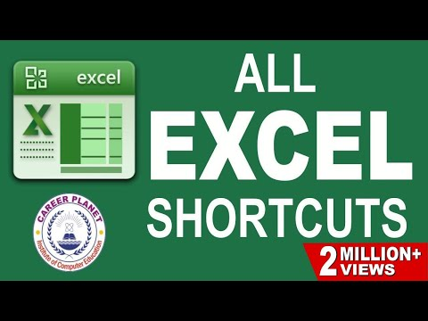 MS EXCEL- SHORTCUT KEYS Part-1 in Hindi