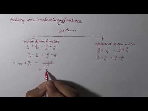 Adding and Subtracting Fractions (Hindi) - Part 1