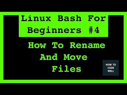 Linux Shell Tutorial 4 How To Move and Rename Files