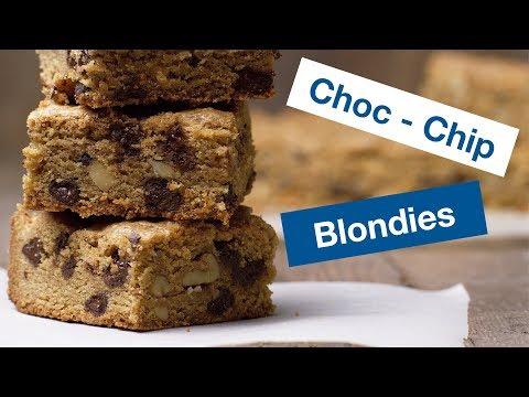 Chocolate Chip Pecan Blondies Recipe || Le Gourmet TV Recipes