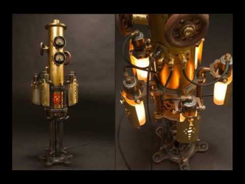 Steampunk lamp ideeas