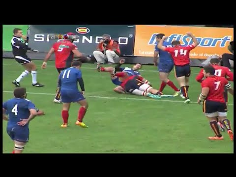 Spain 9 pass team try vs Chile 2015